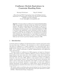 Confluence Modulo Equivalence in Constraint Handling Rules