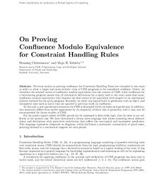 On Proving Confluence Modulo Equivalence for Constraint Handling Rules