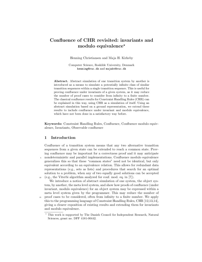 Confluence of CHR revisited: invariants and modulo equivalence