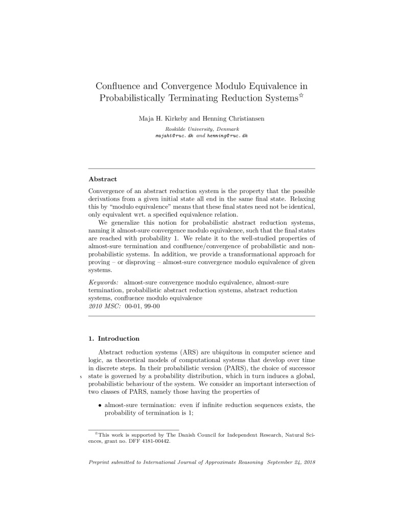 Confluence and Convergence Modulo Equivalence in Probabilistically Terminating Reduction Systems